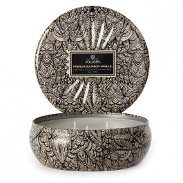 Voluspa - French Bourbon Vanille 3-Wick Tin Candle