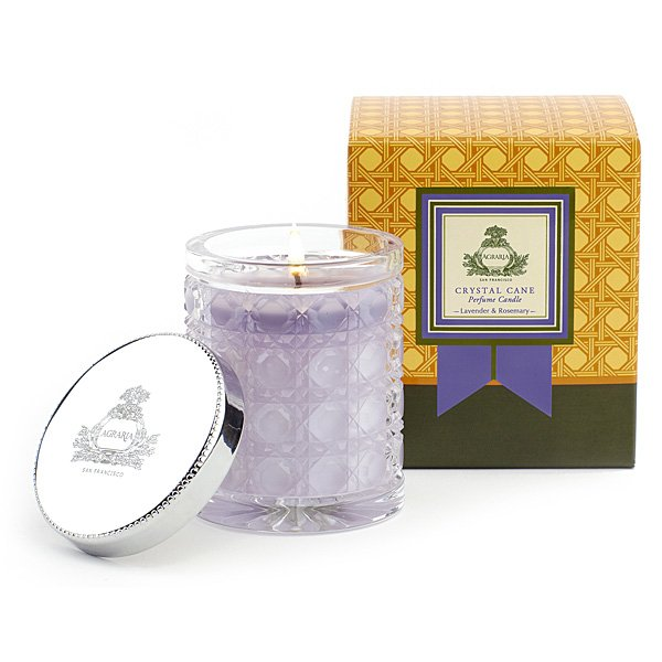 Agraria - Lavender & Rosemary Crystal Petite Candle | Candle Delirium