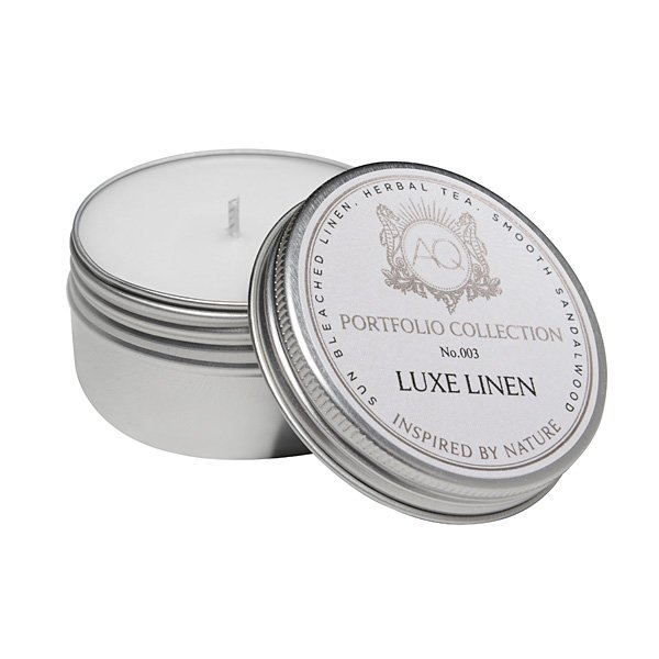 Aquiesse Luxe Linen Travel Tin Candle Candle Delirium