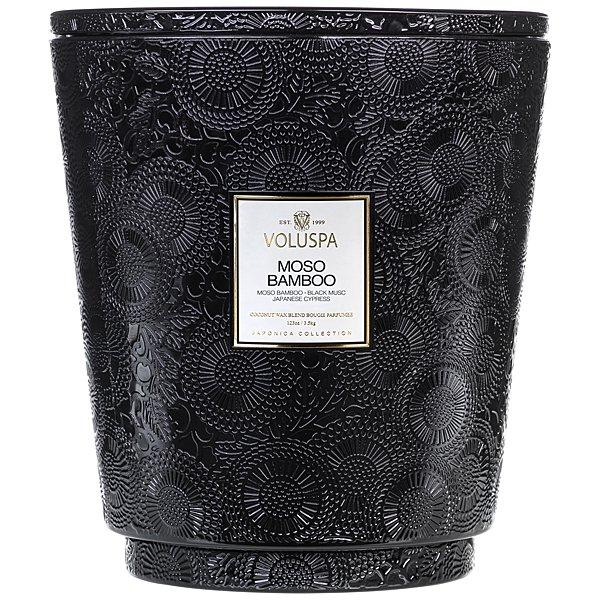 Voluspa Moso Bamboo 5 Wick Hearth Candle Candle Delirium