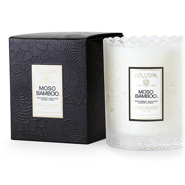 Voluspa Moso Bamboo Boxed Scallop Candle Candle Delirium